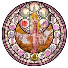 Giselle - Kingdom Hearts Stain Glass by ~reginaac57 on deviantART