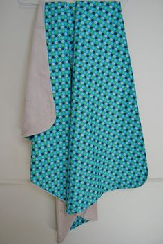 Multidot Aqua Stroller Blanket - by evergreenbaby on madeit