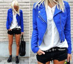 Bright Blue Jacket