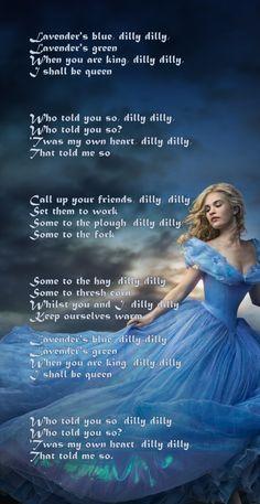 Lavender's Blue, the song Ella sang in the new Cinderella. Disney Princess Drawings, Disney Princess Art, Disney Drawings, Disney Art, Cinderella Quotes, Cinderella Movie, Cinderella Disney, Lavender Blue Song, Green Song