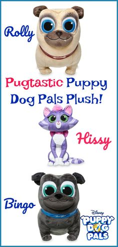 Check out the New Plush Toys from Puppy Dog Pals