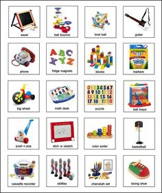 Free Pec symbols, examples of toy pictures