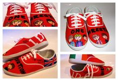 Hand-painted One Direction shoes EDIT: Sold!