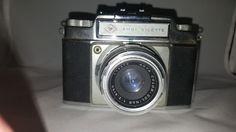 Agfa Ambi Silette 35mm Vintage Camera w/Agfa Color-Solinar 50mm f/2.8 Lens+ Case #Agfa