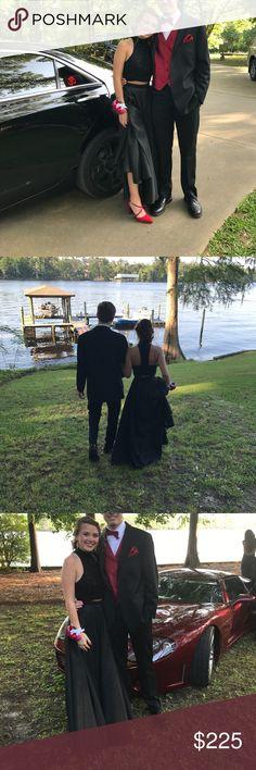 Prom Dress 2 piece long black prom dress. Worn once Sherri Hill Dresses Prom