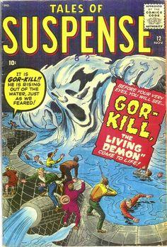 Cover for Tales of Suspense (Marvel, 1959 series) Sci Fi Comics, Fantasy Comics, Horror Comics, Marvel Comic Books, Comic Books Art, Comic Art, Horror Art, Comics Vintage, Vintage Comic Books