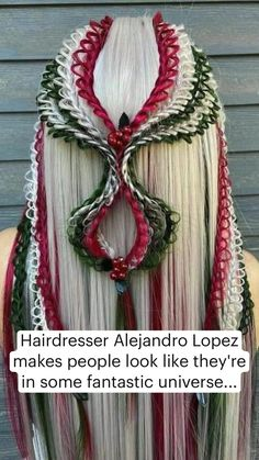 Medieval Hairstyles, Fancy Hairstyles, Bride Hairstyles, Headband Hairstyles, Goddess Hairstyles, Hair Tinsel, Wacky Hair, Vibrant Hair Colors, Beautiful Hair Color