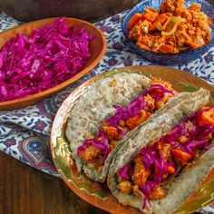 Moroccan Chicken & Sweet Potato Gyros with Homemade Pitas and Red Cabbage Slaw