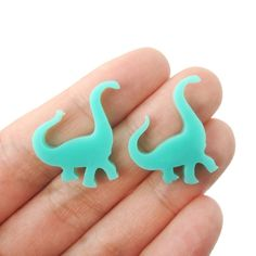 Large Brontosaurus Dinosaur Silhouette Shaped Laser Cut Stud Earrings in Blue Green sold by DOTOLY Animal Jewelry. Shop more products from DOTOLY Animal Jewelry on Storenvy, the home of independent small businesses all over the world. Dinosaur Silhouette, Acrylic Shapes, Lazer Cut, Super Cute Animals, Gift Store, Animal Jewelry, Laser Cutting, Blue Green, Stud Earrings