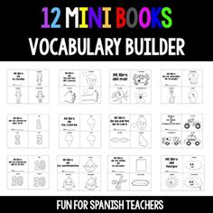 12 Mini-Books for Spanish Class