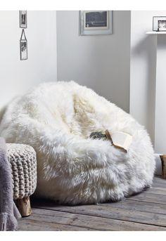 Sumptuous Sheepskin Beanbag - Ivory - Kids - Indoor Living