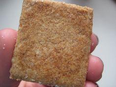 Homemade wheat thin crackers! I'm on a homemade cracker kick apparently, haha