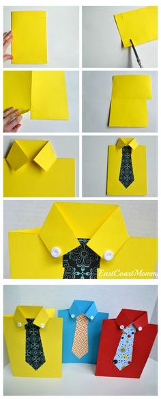Great tutorial and video on this site! It's a sweet Father's Day card guaranteed to delight Dad. perfect fathers day gift, gifts to grandpa, fathers day presents from daughter Kids Crafts, Diy And Crafts, Arts And Crafts, Paper Crafts, Kids Diy, Easy Crafts, Diy Father's Day Gifts, Father's Day Diy, Gifts For Dad