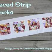 Pieced Strip Blocks - via @Craftsy