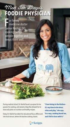 Do you love to cook? So does Dr. What started as a hobby for this family medicine doctor blossomed into a way of life. Rashid bring people together and keep them well. Read the story and get a free guide. Medicine Doctor, Herbal Oil, Family Doctors, Mindful Eating, Samar, Medical School, Herbal Medicine, Eating Well, Food For Thought