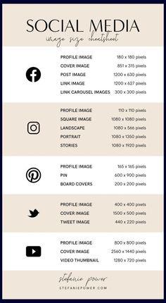 2019 Social Media Image Size Guide - Rissu Tutorial and Ideas Marketing En Internet, Social Media Marketing Business, Social Media Branding, Facebook Marketing, Content Marketing, Marketing Plan, Facebook Business, Marketing Strategies, Marketing Branding