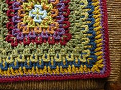 Ravelry: chitweed's Fireworks Surprise for Eileen. Easy, and You can make this crochet square any size. Just keep on going to make a baby afghan...  Free pattern by Amy Schwab available on ravelry.com