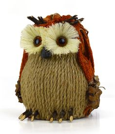 Look at this Burlap Sitting Owl Figurine on today! Holiday Crafts, Holiday Fun, Burlap Art, Beautiful Owl, Owl Crafts, Bird Patterns, Gourd Art, Knit Or Crochet, Decorative Objects
