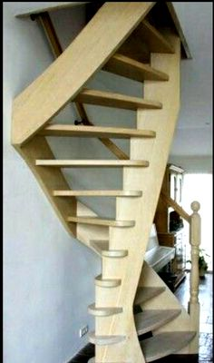 Small Space Stairs, Small Spaces, Attic Stairs, House Stairs, Mezzanine Bedroom, Interior Staircase, A Frame House, Stairways, Woodworking Projects