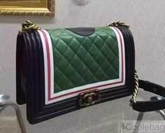 52992c50edec95 CHANEL CALFSKIN AND LAMBSKIN BOY CHANEL FLAP BAG EMBELLISHED WITH AN ENAMEL  CLASP AND A REST A93199
