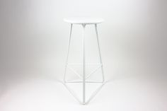 Custom all white TRI650 stool.  Snow White www.huntfurniture.com.au