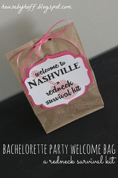 Nashville Bachelorette Party: Welcome Bags + Itinerary - House by Hoff