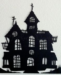 Hand-cut Halloween Silhouettes on Etsy