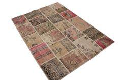 vintage patchwork vloerkleed