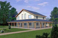 Best home plans country car garage Ideas Pull Barn House, Metal Barn House Plans, Metal Building House Plans, Steel Building Homes, Metal Barn Homes, Pole Barn Homes, Country House Plans, New House Plans, Country Farmhouse