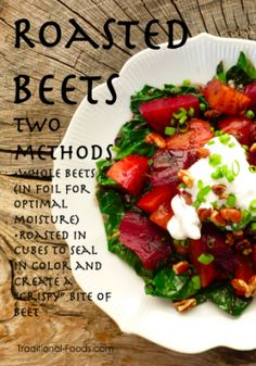 Roasted Beets: Two Methods from Traditional-Foods.com