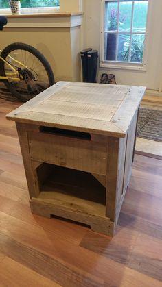 Rustic Pallet Hardwood Nightstand