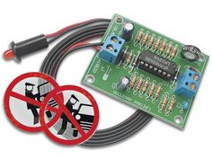 Car alarm simulator - LED with realistic flash sequence simulates active car alarm system.