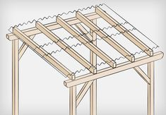Roof structure with roofing material. When age-old throughout notion, the pergola is encountering a modern