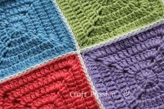 Flat Slip-Stitch is 1 of the methods to join up the granny squares. It gives a flat yet clearly defined lines that framed up the squares.