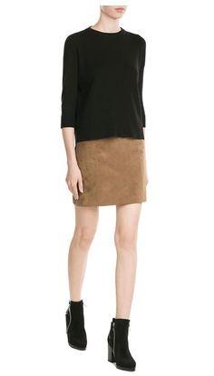FRAME DENIM Cashmere Knit 3/4 Sleeve Pocket Crew Boxy Sweater Pullover Top $259 #Frame #Crewneck