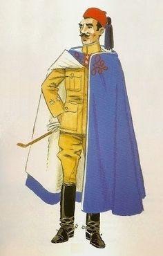 Los Regulares. Uniformes de 1912-13 Teniente de los Tabores de Caballería en…