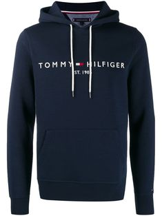 Tommy Hilfiger Embroidered Logo Hoodie In Blue Tommy Hilfiger Outfit, Tommy Hilfiger Sweatshirt, Tommy Hilfiger Jackets, Hilfiger Denim, Tommy Clothes, Cool Hoodies, Men's Hoodies, Sweat Shirt, Hoodie Outfit