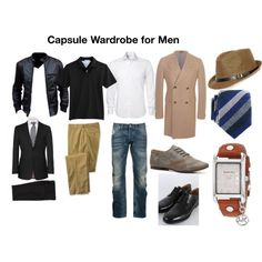 """""""Capsule Wardrobe for Men"""" by fitcolourcombination on Polyvore"""