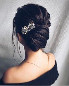 Beautiful loose braided updo hairstyles, upstyles, elegant updo ,chignon ,bridal updo hairstyles ,updo hairstyles,wedding hairstyle #weddinghairstyles #updos #bridehair #PromHairstylesBraid