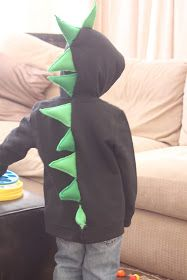 Embellish: {project share} DIY Stegosaurus Hoodie
