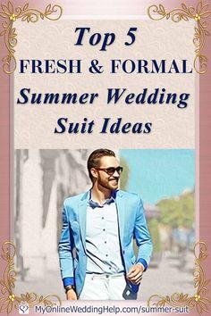 Top 5 Fresh & Formal Summer Wedding Suit Ideas that Slay Mens Summer Wedding Suits, Summer Wedding Outfits, Summer Suits, Shakira, Next Wedding, Wedding Ideas, Wedding Planning, Wedding Inspiration, Groom And Groomsmen Attire