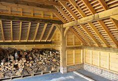 Log store within the Carport - Border Oak