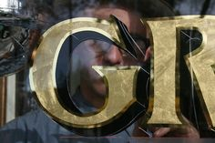 window shops gold leaf signs - Google Search