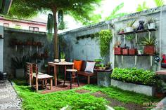 Small Backyard Gardens, Backyard Garden Design, Bg Design, House Design, Dream Garden, Home And Garden, Garden Cafe, Garden Architecture, Interior Garden