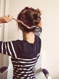 I love her shirt, hair annnnnd wrap around her HAIR!