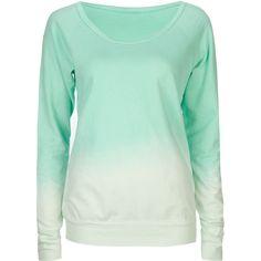FULL TILT Dip Dye Womens Sweatshirt ($18) ❤ liked on Polyvore