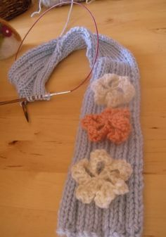Learn to knit flowers