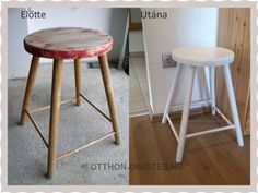 Bar Stools, Diy And Crafts, Furniture, Home Decor, Painted Wood, Projects, Creative, Bar Stool Sports, Decoration Home
