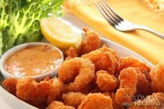 Receita de Camarão frito empanado em receitas de crustaceos, veja essa e outras receitas aqui!