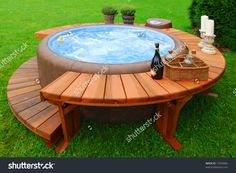 A Jacuzzi has pums that alow force creation to expel water form jets at various pressures.to control water temperature between a Jacuzzi vs Hot Tub